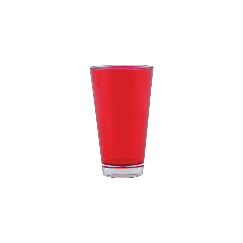 Verre teinté double paroi 30 cl - rouge