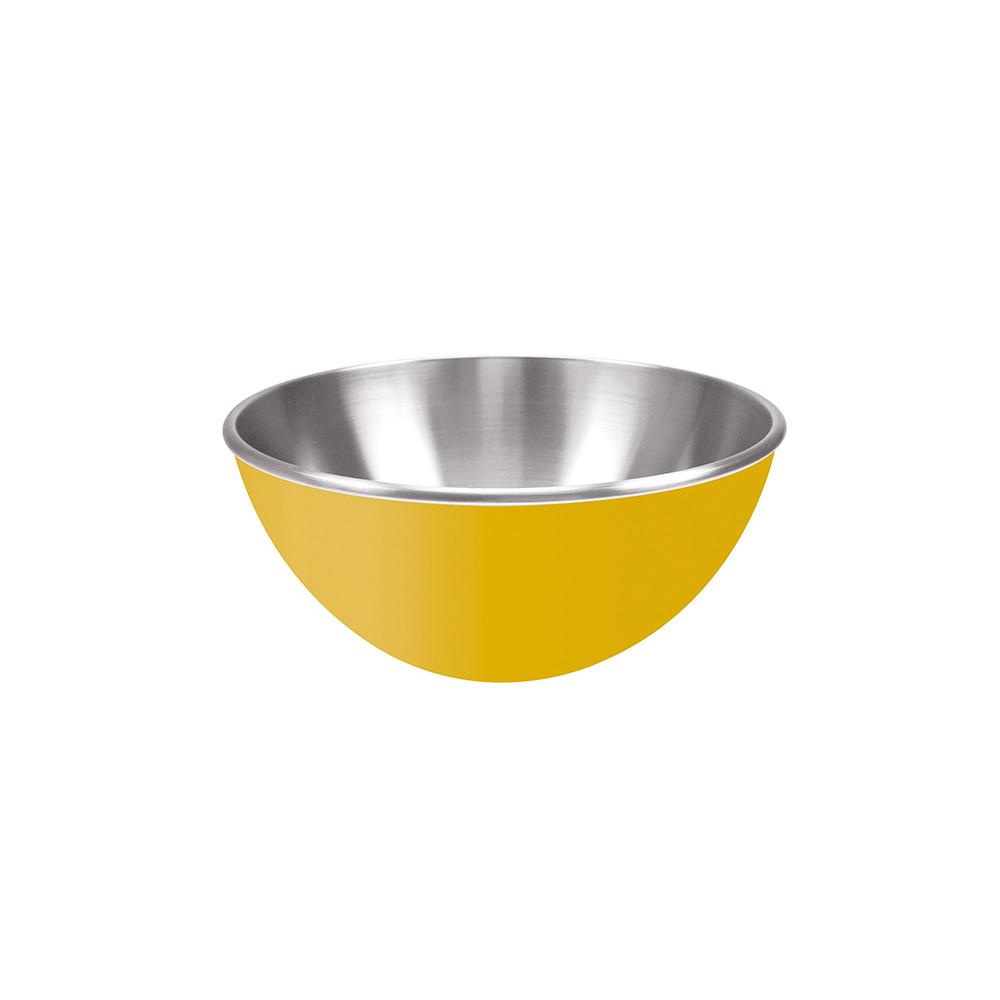 GEMINI - Saladier inox double paroi 20 cm - jaune