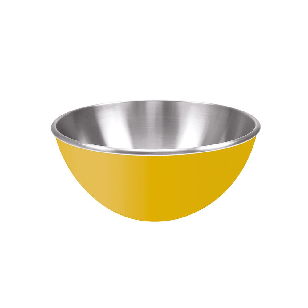 GEMINI - Saladier inox double paroi - 25 cm - jaune