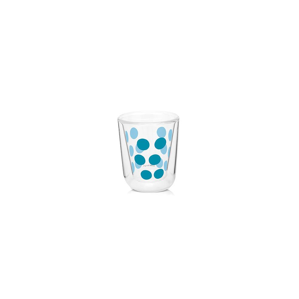 DOT DOT - Verre à expresso double paroi 7,5 cl - Bleu aqua