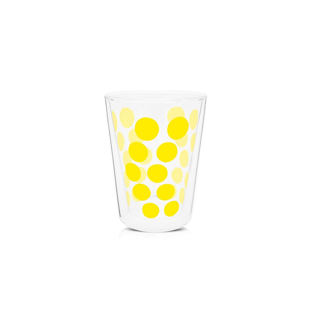 DOT DOT - Verre à thé double paroi 35 cl - jaune