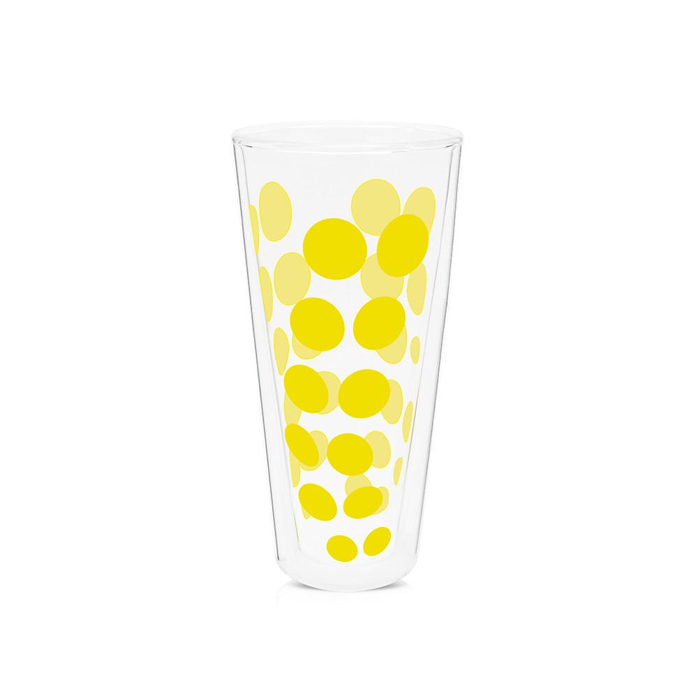 DOT DOT - Verre haut double paroi 35 cl - jaune