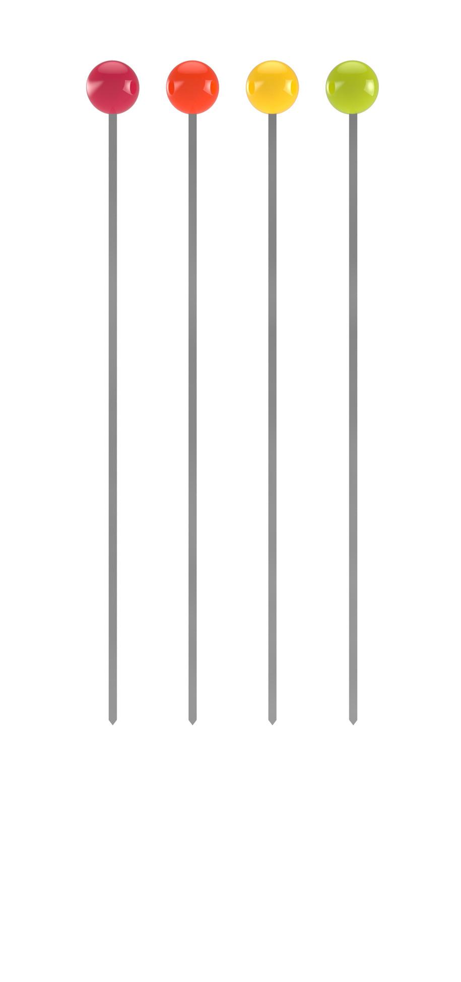 BBQ - Set de 4 piques à brochettes - hot pop