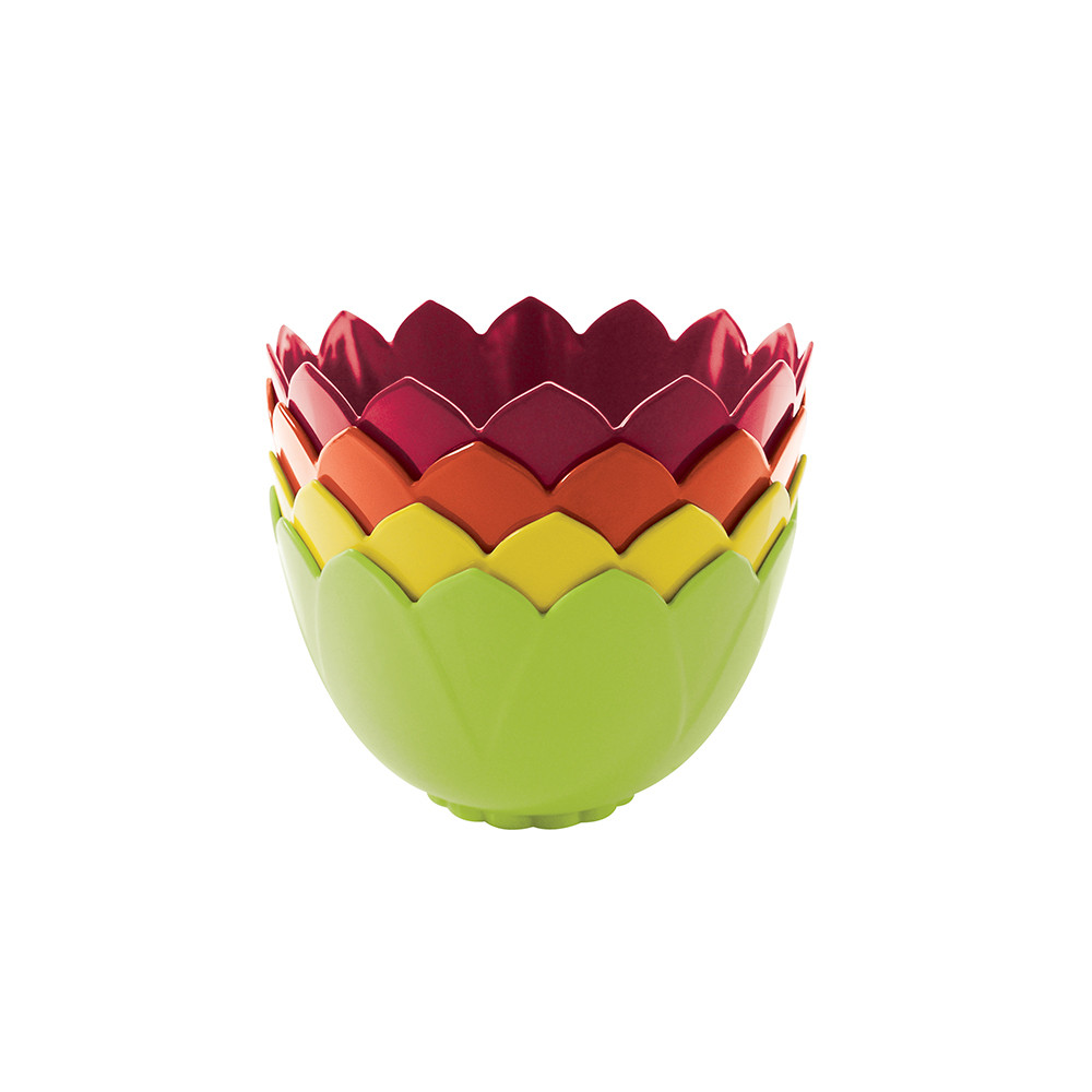 LOTUS - Set de 4 bols emboitables 13 cm - hot pop