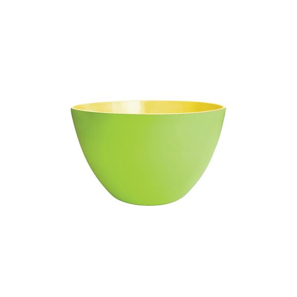 DUO - Saladier 18 cm - vert extérieur/jaune intérieur