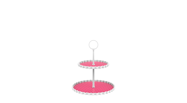 DOTTY - Présentoir à gâteaux 2 étages S