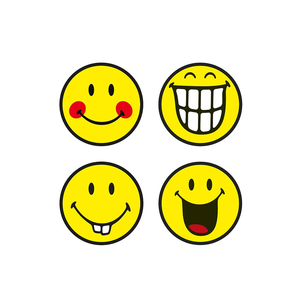 SMILEY - Set de 4 dessous de verre