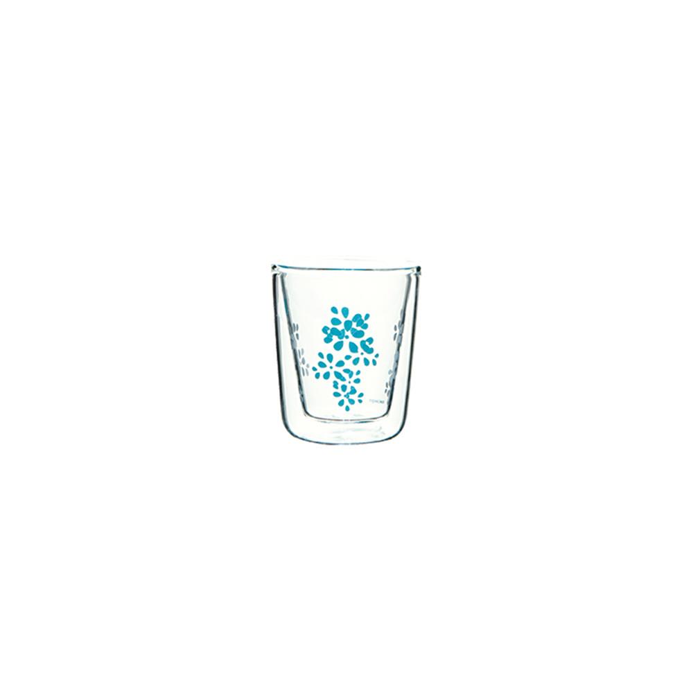 LILY - Verre à expresso double paroi - bleu aqua