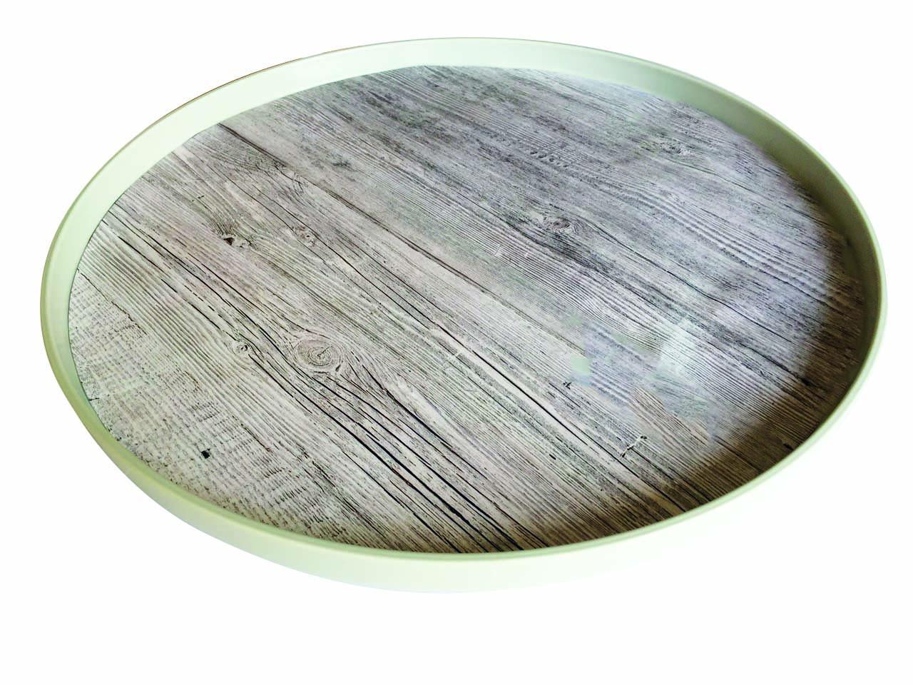 FJORD - Plateau rond 36 cm- bois flotté