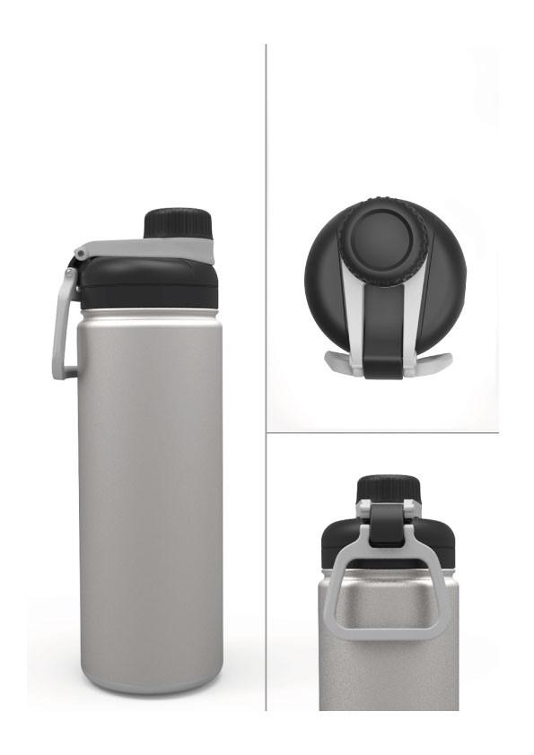 CAMPER - Mug isotherme double paroi - Acier/Noir