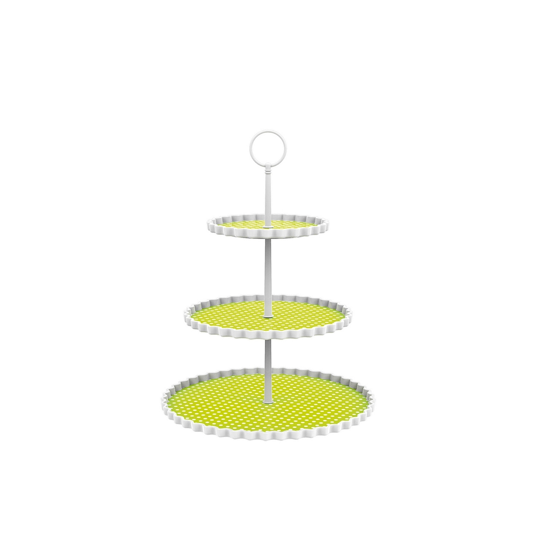 DOTTY - Présentoir à gâteaux 3 étages - vert