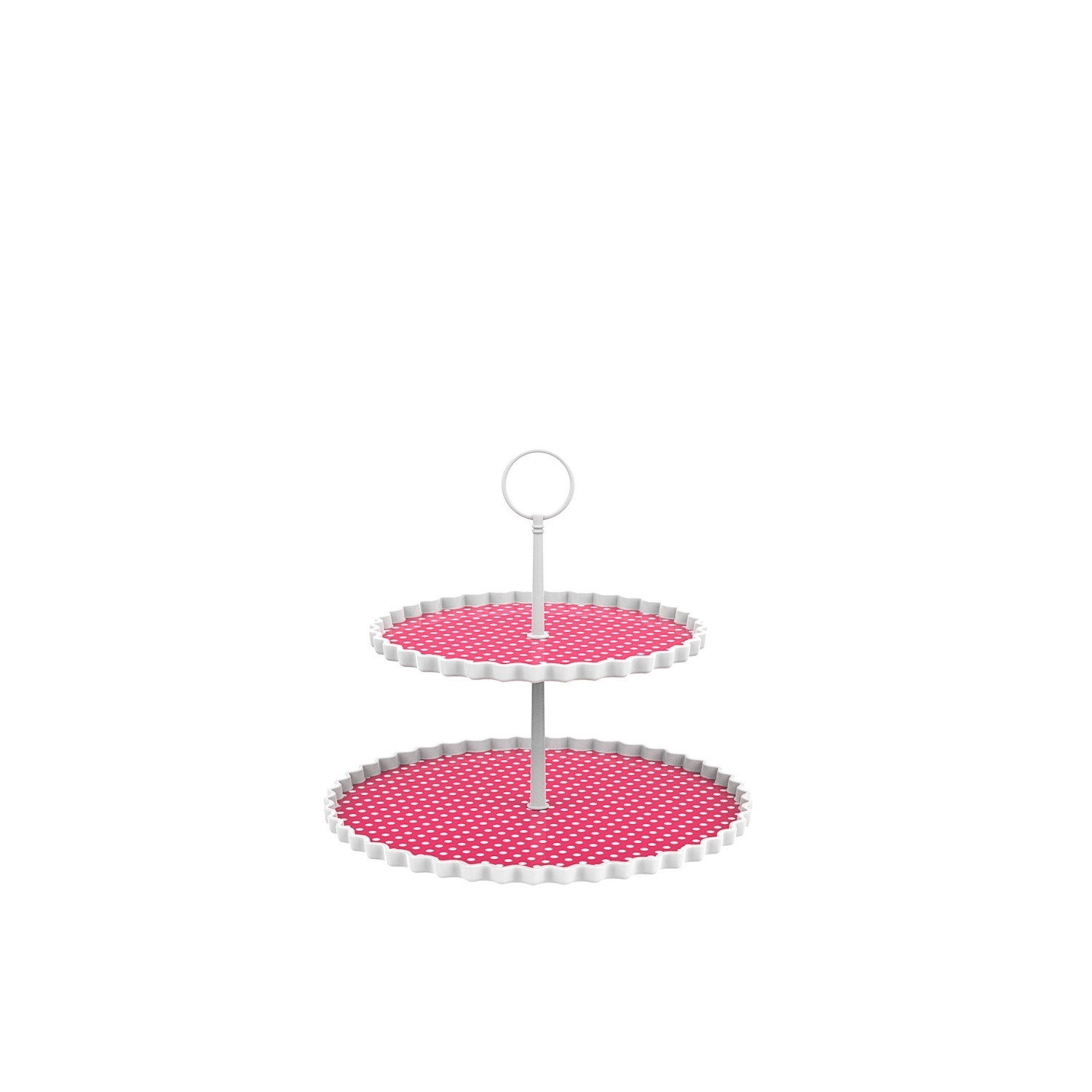 DOTTY - Présentoir à gâteaux 2 étages S - grenadine