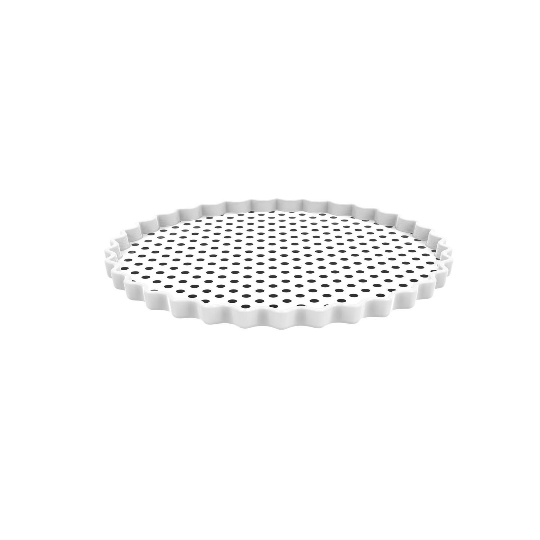 DOTTY - Plat/assiette ronde - blanc