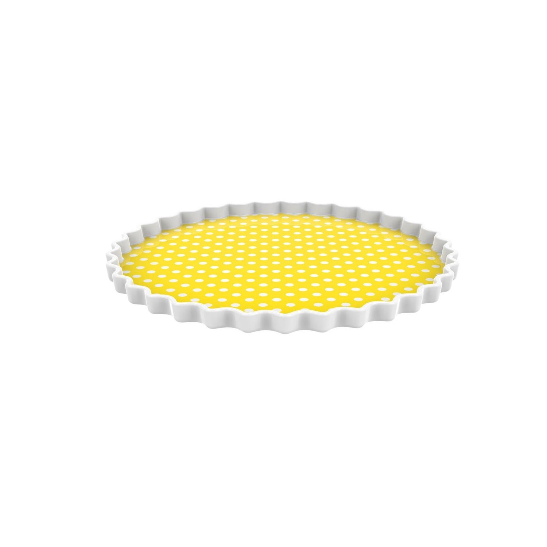 DOTTY - Plat/assiette ronde - jaune