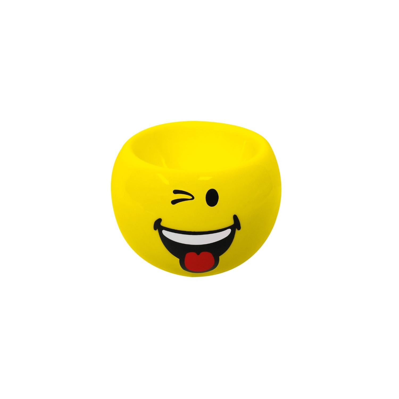 SMILEY - Coquetier rond 6cm - émoticône malicieux