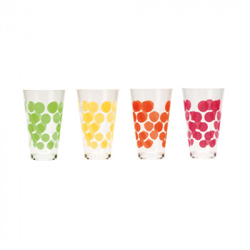 DOT DOT - Set de 4 verres 30 cl - Hot Pop