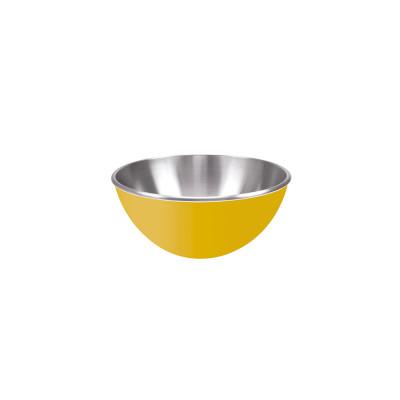 GEMINI - Saladier inox double paroi 16 cm - jaune