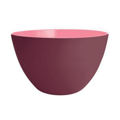 DUO - Saladier 28 cm - châtaigne extérieur/rose intérieur