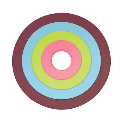 CIRCLE - Set de 4 dessous de plat circulaires emboîtables