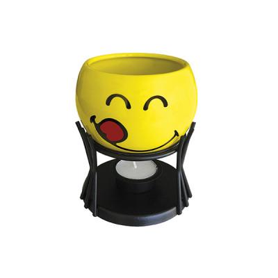 SMILEY - Set à fondue au chocolat avec 4 piques