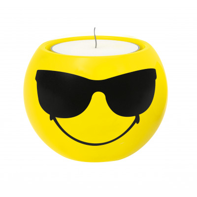 SMILEY - Set de 2 bougeoirs