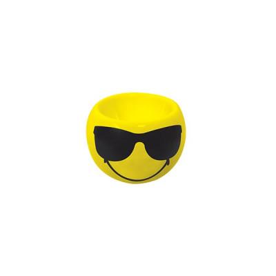SMILEY - Coquetier rond 6cm - émoticône cool