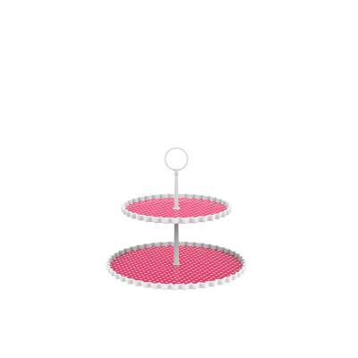 DOTTY - Présentoir à gâteaux 2 étages M - grenadine